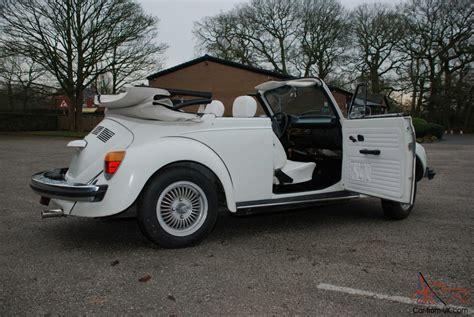 volkswagen bug white vw beetle triple white convertible