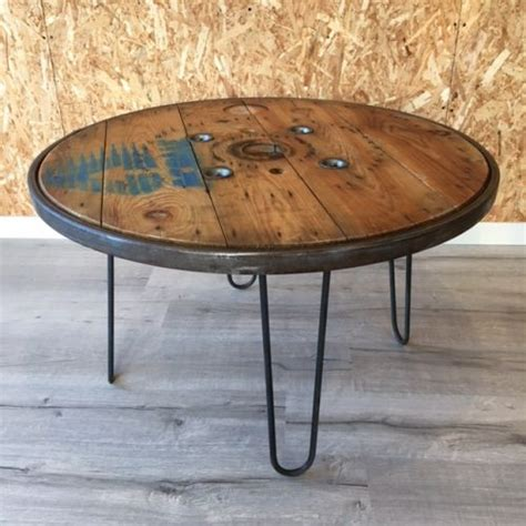 Transformer Un Touret En Table Basse Touret En Bois Pour La D 233 Coration Madecovintage