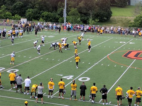 steelers training camp diary day  steelers depot