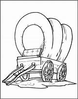 Wagon Pioneer Drawing Covered Coloring Getdrawings sketch template