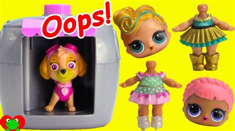 lol surprise dolls missing heads paw patrol skye rescue