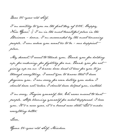 new year letter forgive a happy new year letter to my 25 year self 62117