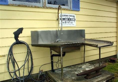 stainless steel fish cleaning station with sink 7 best images about hubby s spaces on chairs