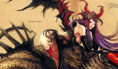 Demon Desktop Anime Wings Pc Devil Female