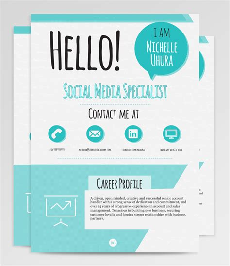 berenices resume template on behance