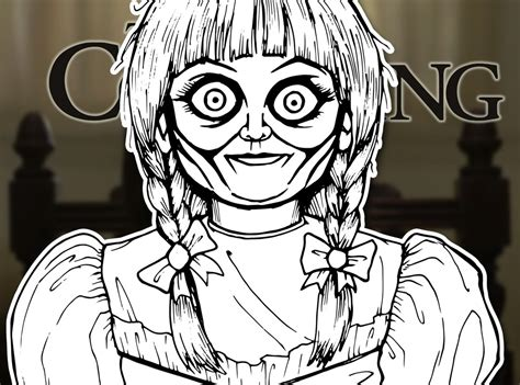 How To Draw Annabelle The Conjuring Drawing Tutorial