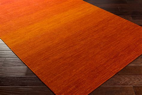 surya chaz flatweave rug bright orange modern rug