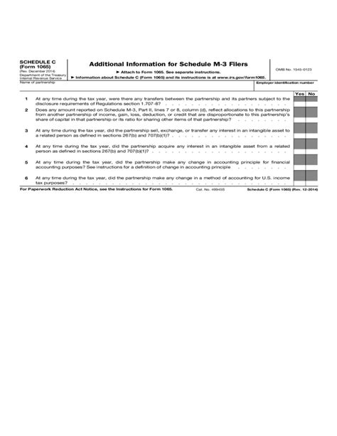 2014 Irs Form 1065 by Form 1065 Schedule C Additional Information For