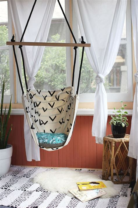 indoor hanging chair for bedroom hammock chair diy a beautiful mess
