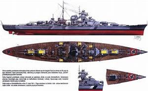 Navy Ship  Plans Of The Bismarck Battleship