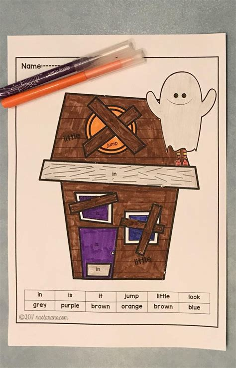 halloween coloring pages  sight words  images