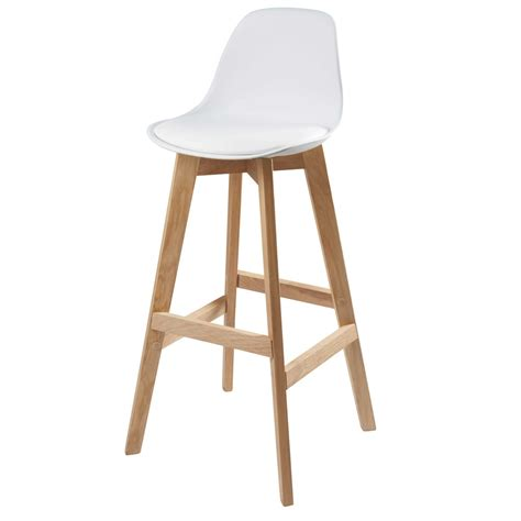 chaises de bar design chaise de bar scandinave blanche maisons du monde