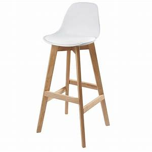 chaise de bar scandinave blanche ice maisons du monde With meuble d entree maison du monde 19 chaise de cuisine confortable