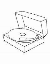 Record Player Template Coloring Pages sketch template