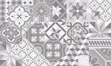 tapis vinyle carreaux de ciment l 233 on gris tourterelle
