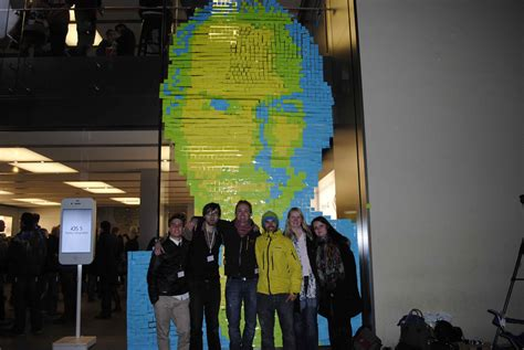 post it bureau mac impressive steve tribute made out of 4001 post it