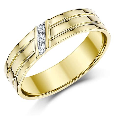 9ct yellow gold wedding ring flat court diamond 5mm ring quot sale quot ebay
