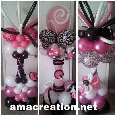 pink and white balloon decorations 731 best images about balloon columns pillars decoration