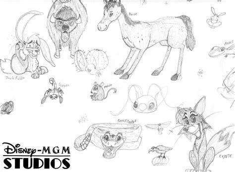 desert animals sketch  stitchfan  deviantart