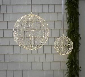 Guirlande Lumineuse Boule Exterieur : d co lumineuse de no l pour un ext rieur magique ~ Preciouscoupons.com Idées de Décoration