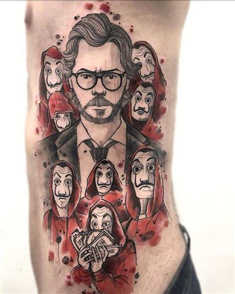 la casa de papel tattoo fobera tatoyaz casa de papelao