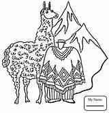 Coloring Pages Dam Llama Llamas Getcolorings Printable Getdrawings Popular sketch template