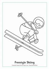 Coloring Skiing Pages Colouring Freestyle Winter Olympics Ski Olympic Doo Games Crafts Olympische Winterspelen Sports Ready Nordic Activityvillage Jackson Activities sketch template