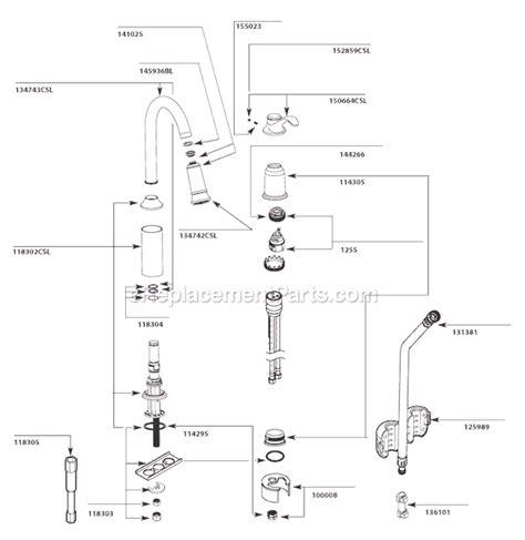 Moen Csl Parts List Diagram After