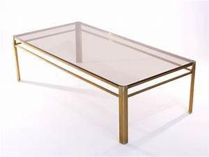 Table En Verre Rectangulaire : table basse laiton le bois chez vous ~ Teatrodelosmanantiales.com Idées de Décoration