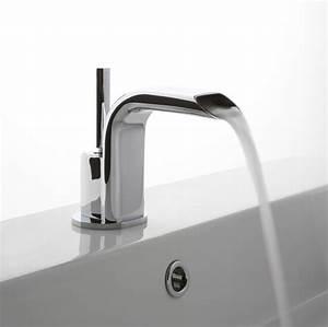 Robinet Lavabo Cascade : mitigeur lavabo avec joystick et bec cascade chrom treemme ~ Edinachiropracticcenter.com Idées de Décoration