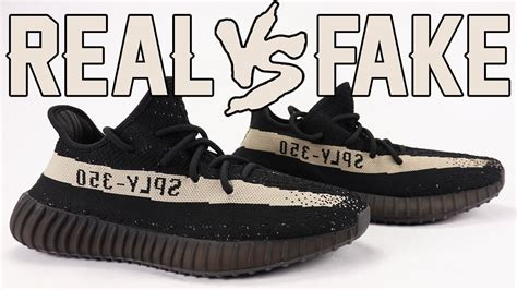 Real vs Fake adidas Yeezy Boost 350 V2 Oreo Black White