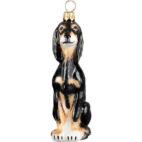 saluki polish glass christmas ornament dog tree decoration