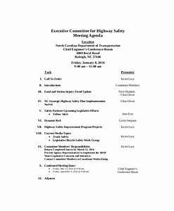 safety meeting agenda template 8 free word pdf With health and safety committee meeting agenda template