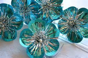 vintage ornaments turquoise foil reflector tie ons