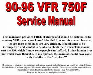 Honda Vfr750f 90 96 Service Manual