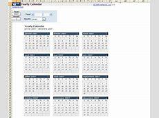 Plantilla de calendario anual en Excel Download