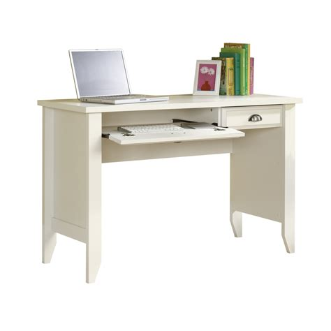 shop sauder shoal creek soft white computer desk at lowes com