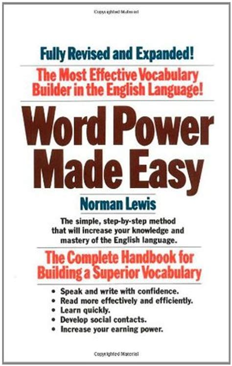 word power  easy  norman lewis reviews discussion
