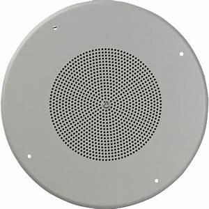 Atlas Sound Sd72w Dual Cone Ceiling Speaker With Baffle Sd72w