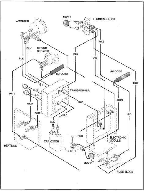 Wiring Cart Diagram Golf Ezgo Non Dc by Medalist 4 Caddy Electric Ezgo Golf Cart