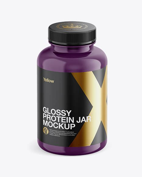 Sample design is not included in the if you want to use this item for another project, please add a new one using your free quota. Download Glossy Plastic Protein Jar Mockup - Front View ...