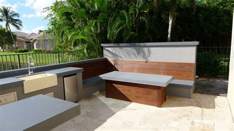 Ultra Modern Outdoor Kitchen Table & Bench   OUTDOOR
