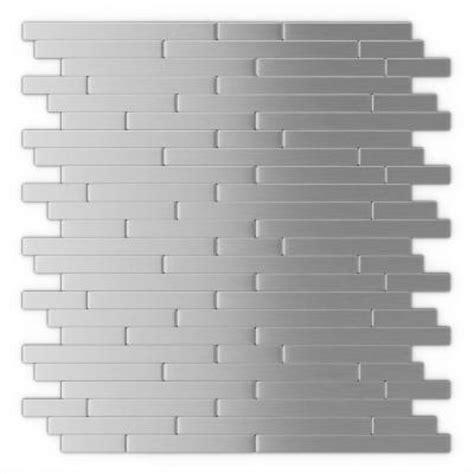 home depot self adhesive tiles inoxia speedtiles linox 11 88 in x 12 in self adhesive