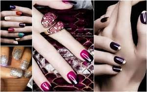 Nail design bottom left rhinestone art and middle ombre