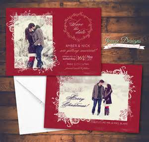 say merry and save the date jeneze designs