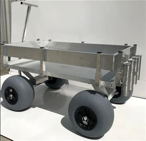 beach wagon cart aluminum fishing kahuna extra balloon sand tires wagons tire industrial walls