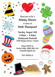 bridal shower holiday theme invitation With christmas wedding shower ideas