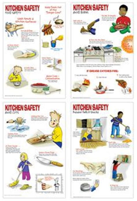 kitchen safety poster set kitchen safety safety posters