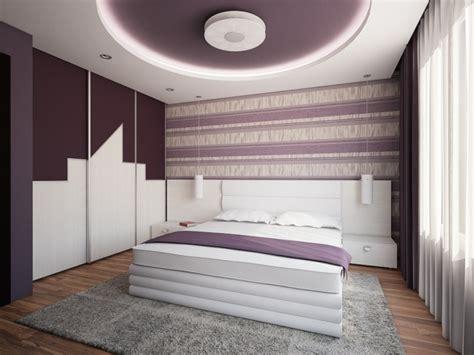les chambre a coucher faux plafond moderne dans la chambre à coucher et le salon