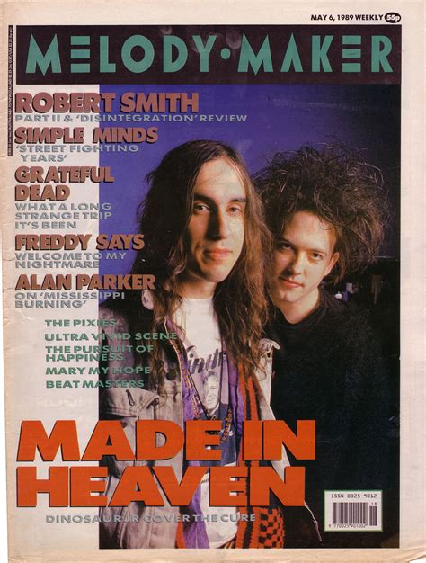 Robert Smith and J Mascis on the cover of Melody Maker ...
